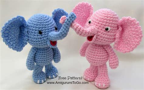 crochet elephant little bigfoot elephant video and pattern amigurumi to go