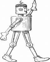 Coloring Robot Printable Challenge Adult Mechanical Printables sketch template