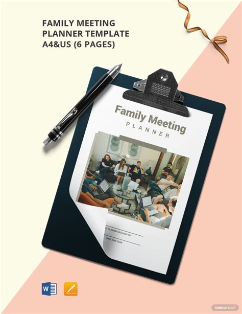 Collection of most popular forms in a given sphere. Family Meeting Planner Template in 2020   Meeting planner ...