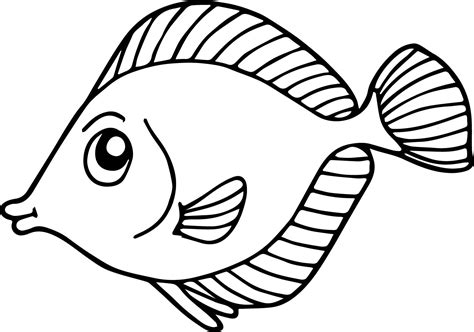 Coloring Fish by Fish Coloring Pages For Preschool And Kindergarten