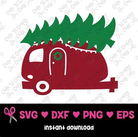christmas camper svg camper  christmas tree svg