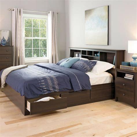 king size bed platform storage bed   drawer extra
