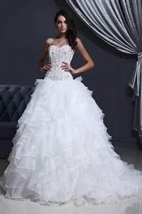 Robe De Mariée Moderne : robe de mari e moderne bustier en organza d collet en ~ Melissatoandfro.com Idées de Décoration