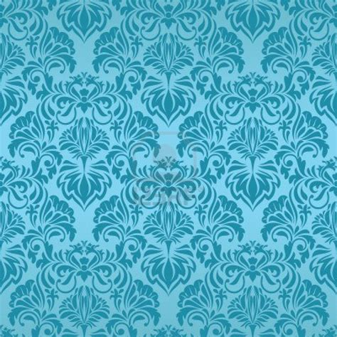 Tapete Muster Blau by Turquoise Seamless Wallpaper Design Vintage
