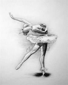 Ballerina Pencil Drawing Ballet