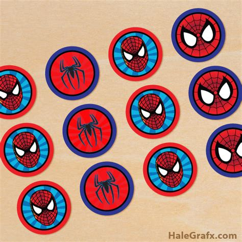 cup marvel template free printable spider man cupcake toppers