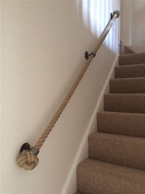 Treppe Handlauf Seil by 36mm Hemp With Brushed Steel Blacksmith Bracets