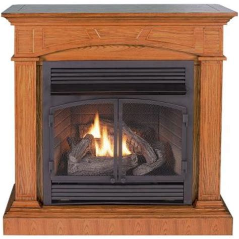 home depot gas fireplace procom 45 in convertible vent free propane gas fireplace