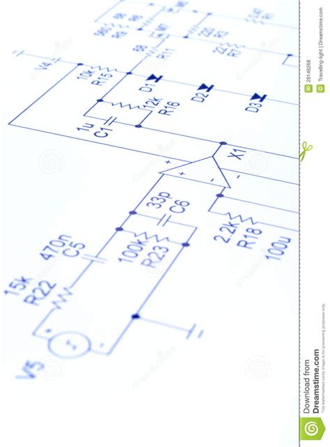Electronic Circuit Diagram Stock Photo Image Devices
