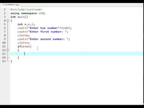How To Print Numbers Between Two Numbers In C++ Using For Loop Youtube