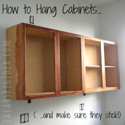 How To Hang A Bathroom Cabinet On The Wall by How To Hang Cabinets And Make Sure They Stick Kitchen