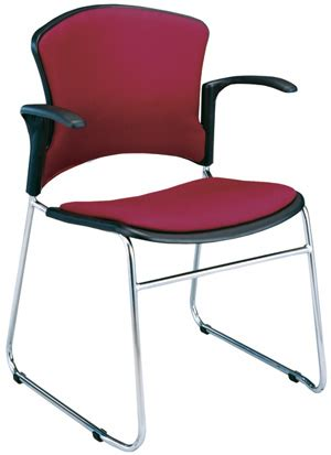 ofm multi use padded plastic chair w arm rests 310 fa