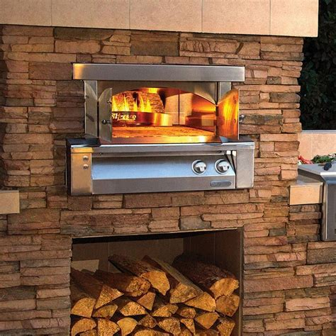 Alfresco 30 Inch Built In Propane Gas Outdoor Pizza Oven