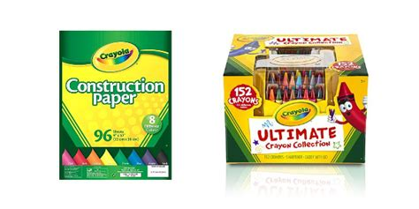 Free 152-ct Crayola Crayons And Construction Paper After