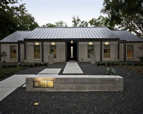 awesome modern family home design gorgeous exterior view gravel courtyard modern remodel house