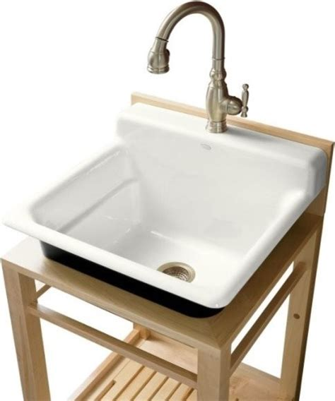 Kohler Utility Sink by Kohler K 6608 1p 0 Bayview Wood Stand Utility Sink With