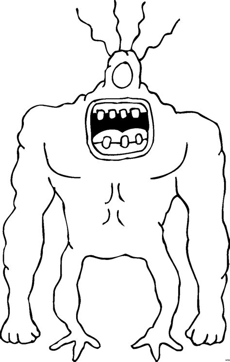 gefaehrliches monster ausmalbild malvorlage phantasie