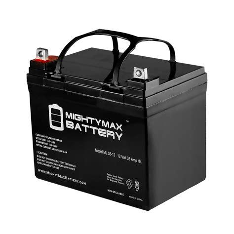 garden tractor battery mighty max 12v 35ah battery for deere lawn garden
