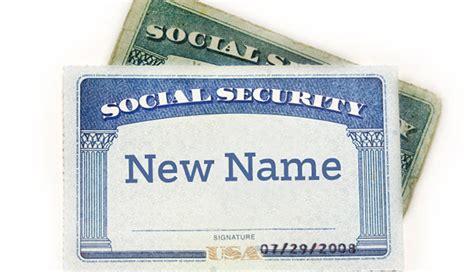 tarjetas de seguro social cambie su nombre