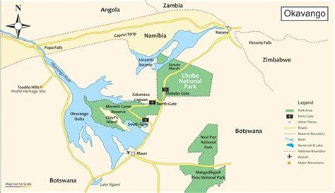 Okavango Delta Karte