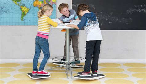 standing desk for kids there 39 s a standing desk and balance board for kids now