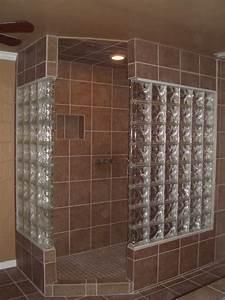 Glass Block Bathroom - Bathroom - other metro - by Lone