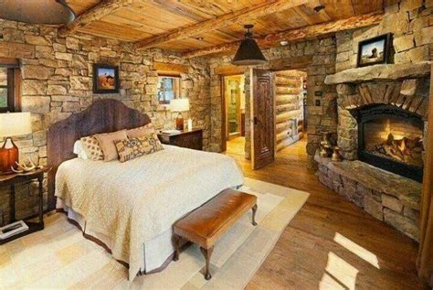 beautiful country style bedroom love the fireplace