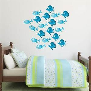 blue fish wall decals set of 20 wall decal world With fish wall decals