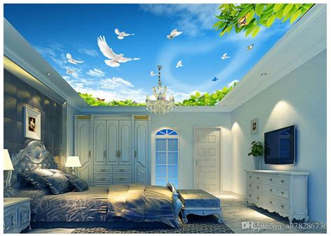 wallpaper custom  ceiling murals wallpaper mural blue