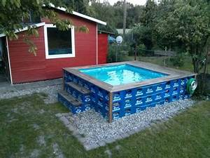 pool aus bierkasten diy do it yourself pinterest With französischer balkon mit garten pool mit filter