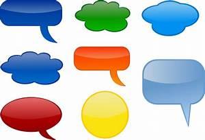 Speech-bubbles-colored Clip Art at Clker.com - vector clip ...