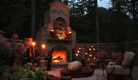 Romantic Outdoor Fireplace Kitchentoday