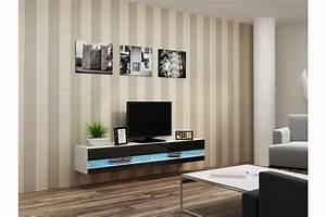 Meuble Tv Blanc Suspendu : meuble tv design suspendu larmo new chloe design ~ Dode.kayakingforconservation.com Idées de Décoration