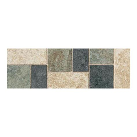 daltile continental slate multi colored 4 in x 12 in