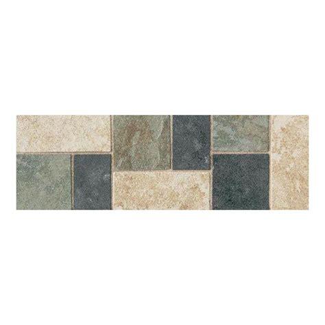 multi color ceramic floor tile daltile continental slate multi colored 4 in x 12 in porcelain decorative accent floor and