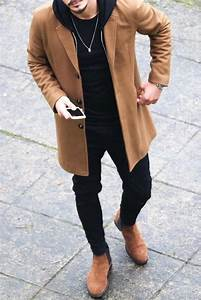 How to wear long coats for men. Overcoat outfits for men ...