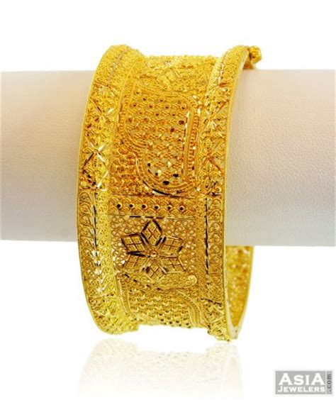 indian gold kada 22k ajba58217 22k gold wide bangle