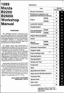 1989 Mazda Pickup Truck Repair Shop Manual Original B2200