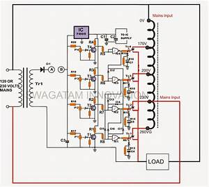 Automatic Voltage Regulator Schematic Diagram