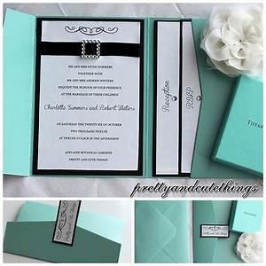 tiffany co shimmer wedding invitations diy pocket cards With tiffany handmade wedding invitations
