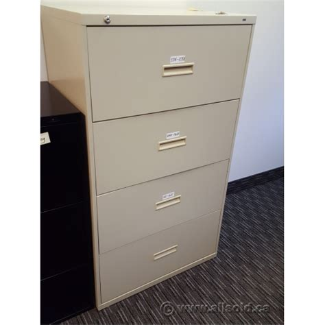 hon 4 drawer lateral file cabinet used hon beige 4 drawer lateral file cabinet locking allsold
