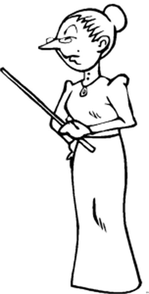 strenge lehrerin ausmalbild malvorlage comics