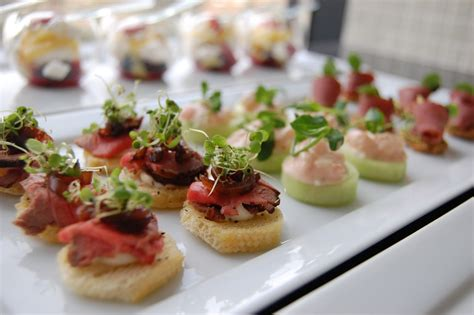 images of canapes weddings at powerscourt house canapes and starters