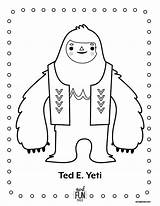 Yeti Coloring Crafts Pages Snowman Printable Christmas Nod Abominable Winter Monster Activities Coloriage Bigfoot Activity Library Ted Books Everest Birthday sketch template