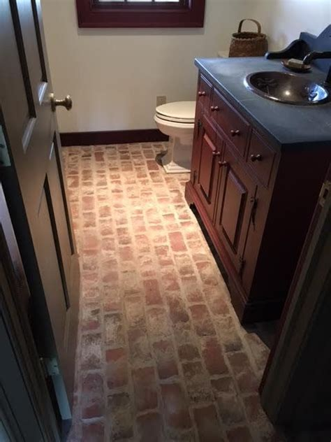 wimer s mill 25 best brick tile bathrooms images on pinterest brick flooring brick tiles and tile bathrooms