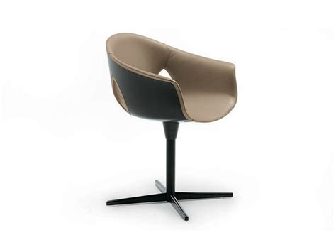 Ginger Ale Chair With 4-spoke Base By Poltrona Frau Design