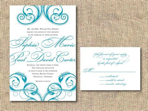 printable wedding invitation templates  printable