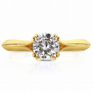 gold color radiant solitaire rhinestone engagement rings With rhinestone wedding rings