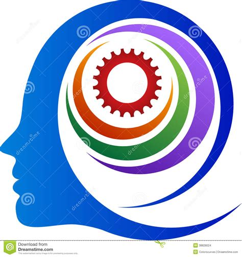 abstract mind gear stock vector image