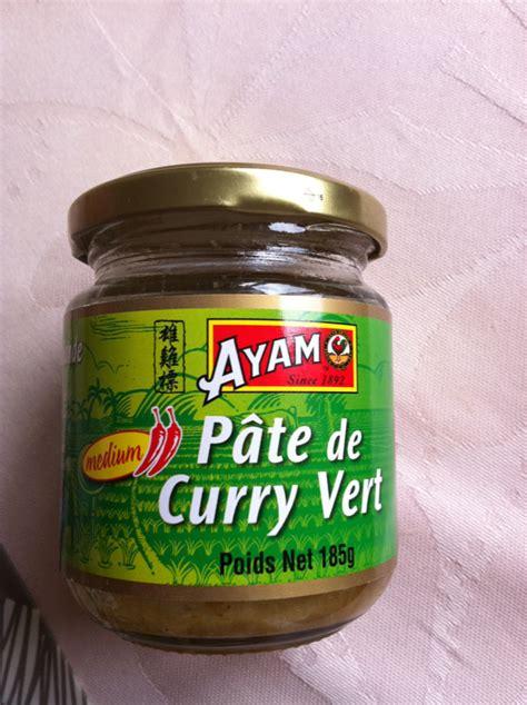 pate de curry vert ayam pot de 185g tous les produits produits ap 233 ritifs exotiques